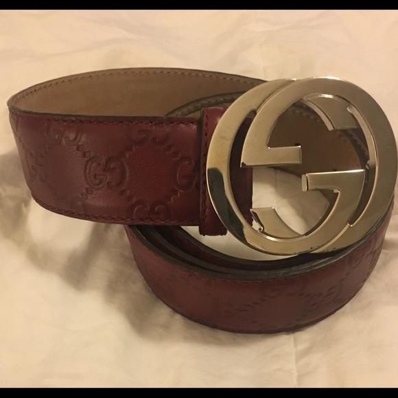f464bbc99ed Gucci Accessories - Authentic GUCCI Guccissima embossed GG logo belt